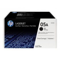 Toner HP 05A, Black, 2-pack, Original, (CE505D)