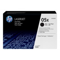 Toner HP 05X, Black, 2-pack, Original, (CE505XD)