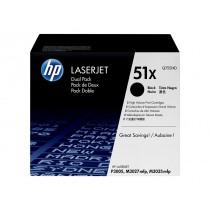 Toner HP 51X, Black, 2-pack, Original, (Q7551XD)