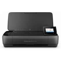 HP Officejet 250 Mobile All-in-One Printer, print, scan, copy, ADF, tintni, color, A4, WL, 2-bojni, crna, 12mj, (CZ992A)