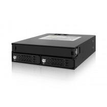 """Kućište Icy Dock 2 Bay 2.5"""" (15mm) SAS/SATA HDD & SSD Backplane Cage with Slim ODD Tray, crna, 2.5"""" 5.25"""", 24mj (MB994IKO-3SB)"""