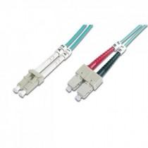 Patch kabel 1m, Optički, Intellinet LC-SC MM duplex 50/125µm OM3, zelena, 303805