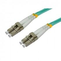Patch kabel 1m, Optički, Intellinet LC-LC MM duplex 50/125µm OM3, zelena, 303928