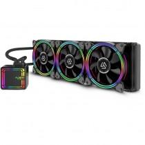 CPU cooler InterTech ALSEYE HALO H360, Water, 3x fan 120mm, 24mj, (88885486)