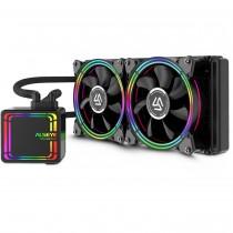 CPU cooler InterTech ALSEYE HALO H240, Water, 2x fan 120mm, 24mj, (88885487)