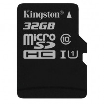 SDHC 32GB Canvas Select, Kingston, SDCS/32GBSP, microSDHC, UHS-I, 36mj