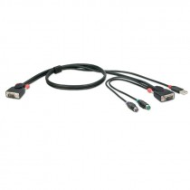PC Preklopnik KVM Lindy 2m COMBO KVM Cable USB & PS/2, crna (33774)