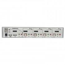 PC Preklopnik KVM Lindy 4 Port DisplayPort 1.2, USB 2.0 & Audio KVM Switch Pro, srebrna (39305)