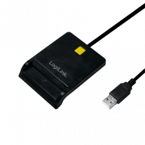 Čitač Smart kartica Logilink USB Smart Card Reader, crna, CR0037, 24mj