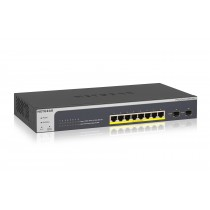 Switch Netgear, GS510TLP-100EUS, 8x GbE, 8x PoE GbE, 2x SFP, 24mj