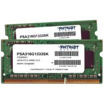 DDR3 16GB (2x8GB), DDR3 1333, CL9, SO-DIMM 204-pin, Patriot PSA316G1333SK, 36mj