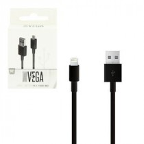 USB kabel for Apple iPhone Lightning port devices, 1m, black (5902012961254)