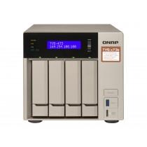 NAS QNAP TVS-473E-8G,  max. 4x disk, LAN 4x, SFF, 24mj