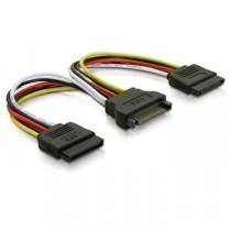 Kabel za SATA naponski kabel Y, SATA (f) na 2×SATA (m), 20cm (27614)