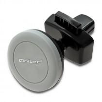 Nosač za Smartphone, Ventilacijska rešetka, Qoltec Car holder magnetic, crna, 12mj, (51228)