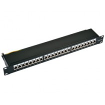 "Patch panel 24p. Cat.6a 19"" STP, crni (26.99.0360-5)"