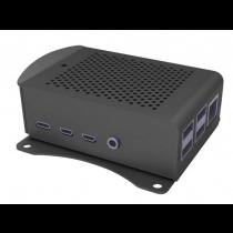 Raspberry Pi Case Model 4B, Alu, VESA 75, RPI CASE ALU06, crno