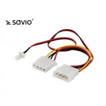 Adatper Molex -> 3 pin, Molex M 1x, Molex F 1x, 3-pin M (SAVAK-15)