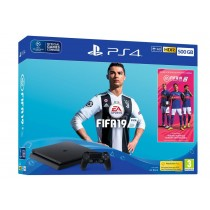 Sony PlayStation 4 Slim 500GB + FIFA 19 (UK + EU adapter) (9743514)