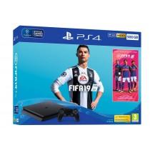 Sony PlayStation 4 Slim 500GB + FIFA 19 (UK + EU adapter) (9743514)