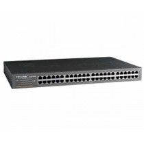 "TP-Link Switch TL-SF1048 48-port Unmanaged Switch, 48×10/100M RJ45 ports, 1U 19"" Rack-mountable steel case"