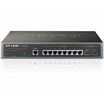 TP-Link Switch TL-SG3210 8-port Gigabit L2 Managed Switch, 8×10/100/1000M RJ45 ports, 2×SFP expansion slots supporting MiniGBIC modules, IGMP V1/V2/V3 Snooping, Priority Management