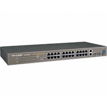 TP-Link Switch TL-SL3428 24-port+4G Gigabit-Uplink Managed Switch, 24×10/100M RJ45/2×10/100/1000M RJ45 ports, 2 SFP expansion slots supporting MiniGBIC modules, Web-based and SNMP management