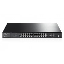 Switch TP-Link T3700G-28TQ 24-Port Gigabit L3 Managed Switch with 4 Combo SFP+ Stack