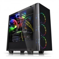 Kućište Thermaltake View 21 Tempered Glass Edition, crna, ATX, 24mj (CA-1I3-00M1WN-00)
