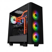 Kućište Thermaltake View 21 Tempered Glass RGB Plus Edition, crna, ATX, 24mj (CA-1I3-00M1WN-05)