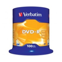 Verbatim DVD-R, DVD-R MATT Silver Single Side, Single Layer, 4.7GB, max 16x, (43549)