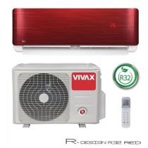 Klima Vivax ACP-12CH35AERI R32 RED, inverter, hlađenje: 3.52kW, grijanje: 3.81kW, split, zidni, vanjska+unutarnja