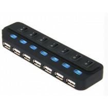 USB HUB Asonic USB 3.0 7Port Hub + 5V napajanje (220V) (N-UH3702)