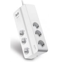 Kabel Razvodnik Naponski APC PM6-GR, bijela, Schuko M utikač - Schuko F utičnica, 1.83m, 1x Schuko utikač, 6x Schuko utičnica, prekidač, prenaponska zaštita