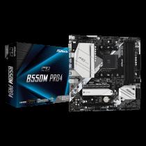 MB ASRock B550M Pro4, AM4, micro ATX, 4x DDR4, AMD B550, 36mj (90-MXBDK0-A0UAYZ)