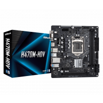 MB ASRock H470M-HDV, LGA 1200, micro ATX, 2x DDR4, Intel H410, 36mj (90-MXBG50-A0UAYZ)