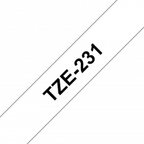 Brother TZEFX231 Tape (fleksibilna ID laminirana) 12mm BLACK ON WHITE (TZEFX231)