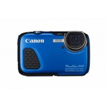 "Canon PowerShot D30 blue, plava, 12.1Mpx, IS Pomična leća, 5x opt. 28-140mm f3.9-4.8, 3"" LCD,  ISO 3200,  Video FullHD, Baterija LiIon, GPS, Podvodan 25m, Niske temp. -10ºC, Pad s vis. 2m, 12mj"