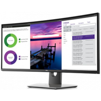 """Monitor Dell 34"""", U3419W, 3440x1440, IPS, zakrivljen, 5ms, 178/178o, HDMI, DP, Lift, Zvučnici, crna, 36mj"""