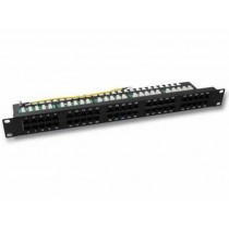 Patch panel Ecolan ISDN panel, crna, 1U, 50p, Cat. 3, ISDN, s modulima, 12mj (37595SW.2)