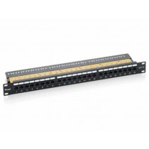 Patch panel 24p. kat 6, UTP, crni