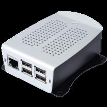 Raspberry Pi Case Model 4B, Alu, VESA 75 RPI Pi 4 Case (Bk/Gy), Crno/Sivo