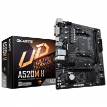 MB Gigabyte A520M H, AM4, micro ATX, 2x DDR4, AMD A520, 36mj