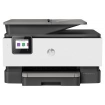 HP Officejet Pro 9010 All-in-One Printer, print, scan, copy, fax, ADF-D, duplex, tintni, color, A4, USB, LAN, WL, 4-bojni, crna, 12mj, (3UK83B)