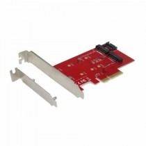 Adapter PCI-E x4 to M.2 Card (PCI-E/SATA) with Low Profile Backplate (PCE2M2)