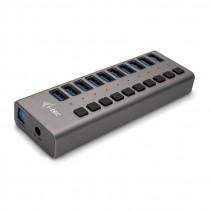 USB HUB USB 3.0 Charging HUB 10 port with Power Adapter 48W, crna, USB3.0, USB3.0, 24mj, (U3CHARGEHUB10)