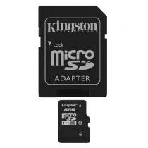 SD HC 8GB class 10, microSD + adapter, Kingston SDC10G2/8GB