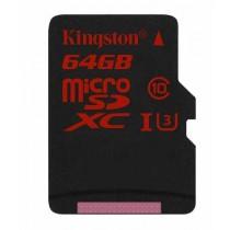 SD XC 64GB class 10/UHS-I U3, 90/80 MB/s, micro SDXC, Kingston SDCA3/64GBSP