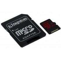 SD XC 64GB class 10/UHS-I U3, 90/80 MB/s, micro SDXC + adapter, Kingston SDCA3/64GB