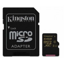 SD XC 64GB class 10/UHS-I, 90MB/s, micro SDXC + adapter, Kingston SDCA10/64GB